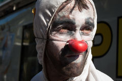 Portrait of a clown at Milan Clown Festival 2014 Royalty Free Stock Photography