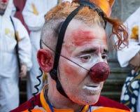 Portrait of clown Moriss at Milan Clown Festival 2014 Stock Images