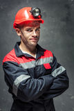 Portrait of coal miner Royalty Free Stock Photo