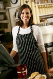 Portrait Of Coffee Shop Owner Royalty Free Stock Image