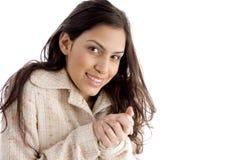 Portrait of cold female Stock Photo