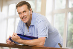 Portrait of college professor in university Royalty Free Stock Photos