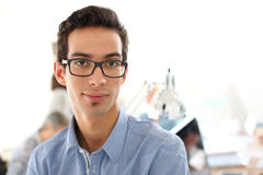 Portrait of college student in classroom Royalty Free Stock Photos