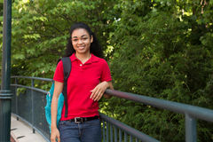 Portrait of a college student Royalty Free Stock Image