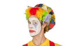Portrait of colorful Clown Royalty Free Stock Image