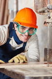 Portrait of competent carpenter Royalty Free Stock Photo