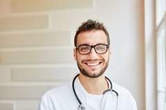 Portrait of competent doctor. As medical specialist Royalty Free Stock Photography