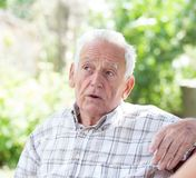 Portrait of conceived old man Royalty Free Stock Photos