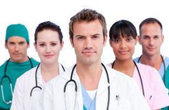 Portrait of a concentrated medical team Royalty Free Stock Images