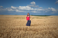 Portrait with conceptual connotation in the agricultural industr Royalty Free Stock Image