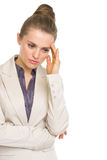 Portrait of concerned business woman Royalty Free Stock Photography