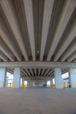Portrait of Concrete beam bridge stock photography