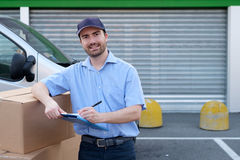 Portrait of confidence express courier Stock Photos