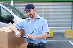 Portrait of confidence express courier Stock Photography