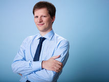 Portrait of confident adult businessman Royalty Free Stock Photo