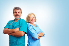 Portrait of confident adult medical doctors Royalty Free Stock Photo