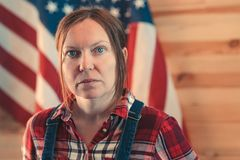 Portrait of confident american female farmer royalty free stock photos