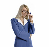Portrait of a confident attractive business woman Royalty Free Stock Photos