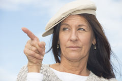 Portrait confident attractive mature woman Royalty Free Stock Photos