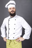 Portrait of a confident bearded chef Stock Images