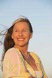 Portrait Confident beautiful mature woman Stock Photography