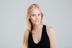 Portrait of confident beautiful young woman with blonde hair Royalty Free Stock Image