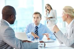 Boss speaking Royalty Free Stock Photo
