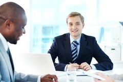Confident boss Royalty Free Stock Images