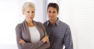 Portrait of confident business colleagues Stock Photos