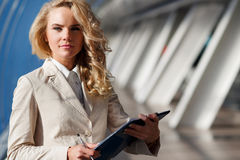 Portrait of confident business lady inside modern office building Stock Photography
