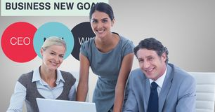 Portrait of confident business people smiling in office Royalty Free Stock Photography