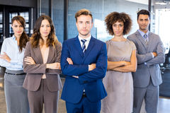 Portrait of confident business team in office Stock Image