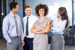 Portrait of confident business team in office Stock Photos