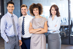 Portrait of confident business team in office Royalty Free Stock Photo