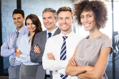 Portrait of confident business team in office Stock Photo
