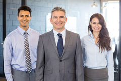 Portrait of confident business team Stock Images