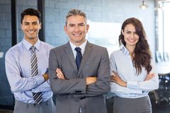 Portrait of confident business team. Standing in office royalty free stock photo
