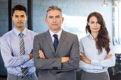 Portrait of confident business team. Standing in office Stock Photography