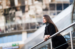 Portrait of confident business woman against a modern office building Royalty Free Stock Image