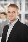 Portrait of confident businessman Stock Photos
