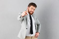Portrait of a confident businessman dressed in suit royalty free stock images