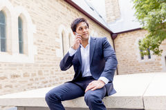 Portrait of confident businessman outdoors Stock Photo