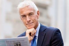 Portrait of confident businessman outdoors Stock Images