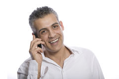 Portrait of a businessman using mobile phone Royalty Free Stock Photo