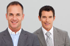 Portrait of confident businessmen with folded arms Stock Images