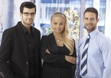 Portrait of confident businesspeople Stock Photos