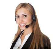 Portrait of confident call center representative Royalty Free Stock Photography