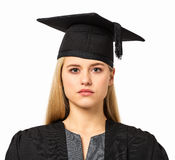 Portrait Of Confident College Student Wearing Mortar Board Stock Photo