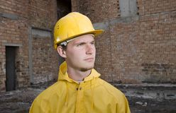 Portrait of confident construction worker Stock Images
