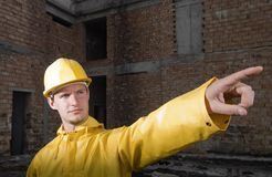 Portrait of confident construction worker Royalty Free Stock Photos